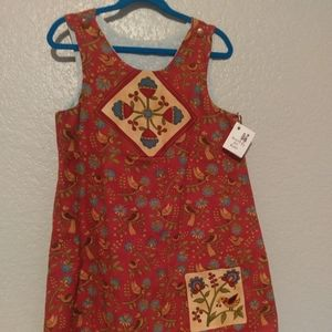 Hand made reversible girls dress